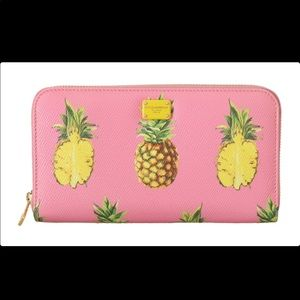 🌟DOLCE&GABBANA🇮🇹LEATHER PINEAPPLE WALLET